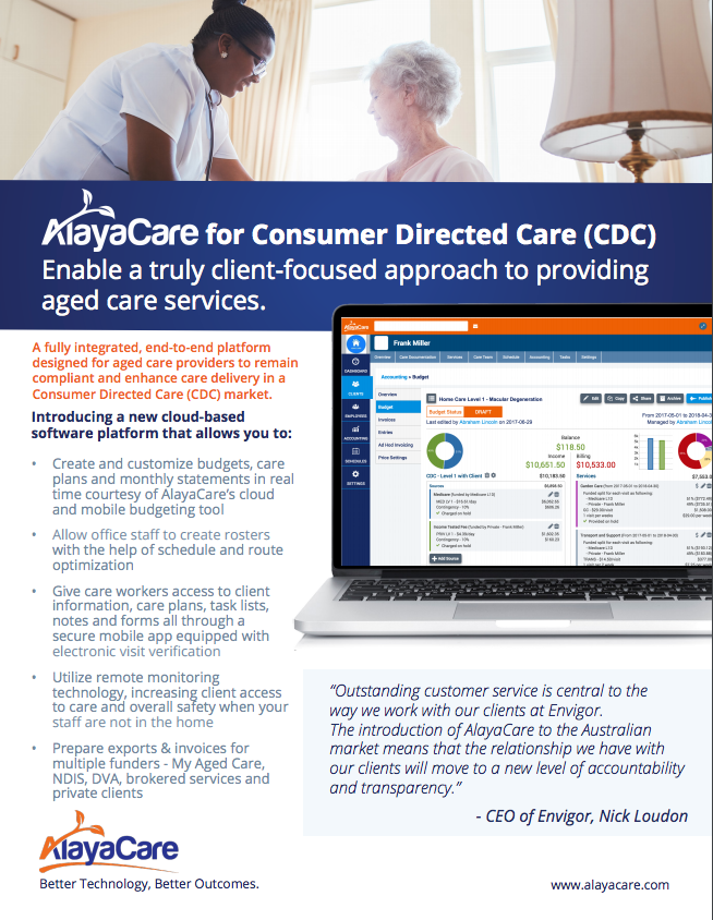 AlayaCare for Consumer Directed Care