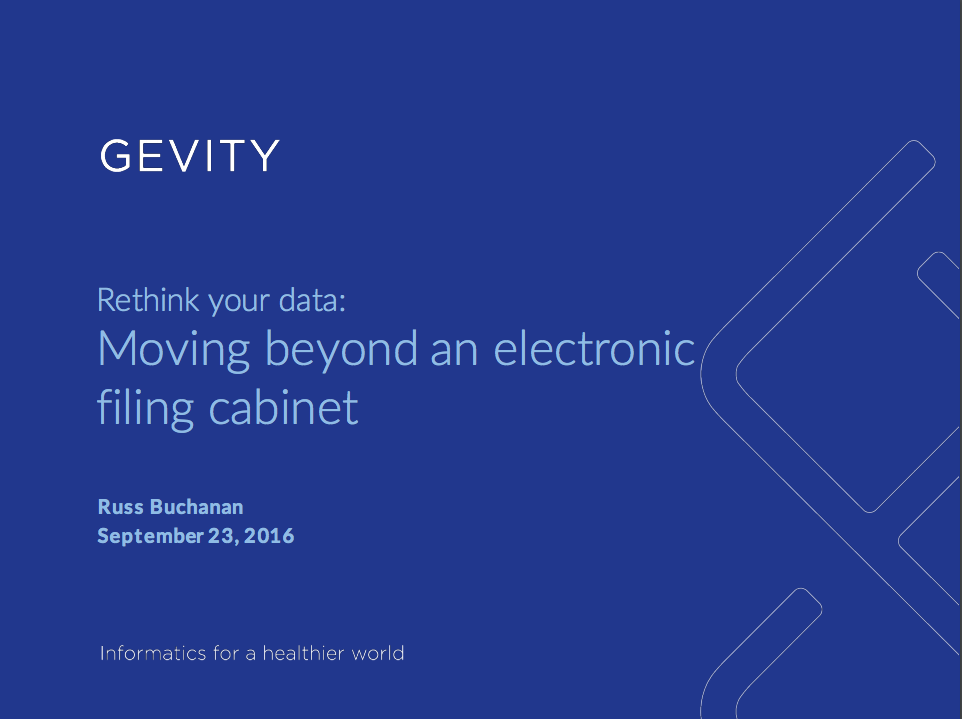 Moving Beyond an Electronic Filing Cabinet