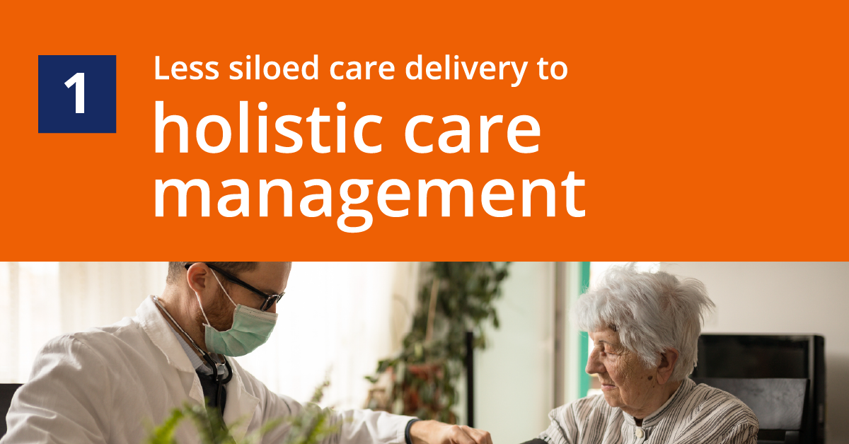 Prediction 1: Less Siloed Care Delivery to Holistic Care Management