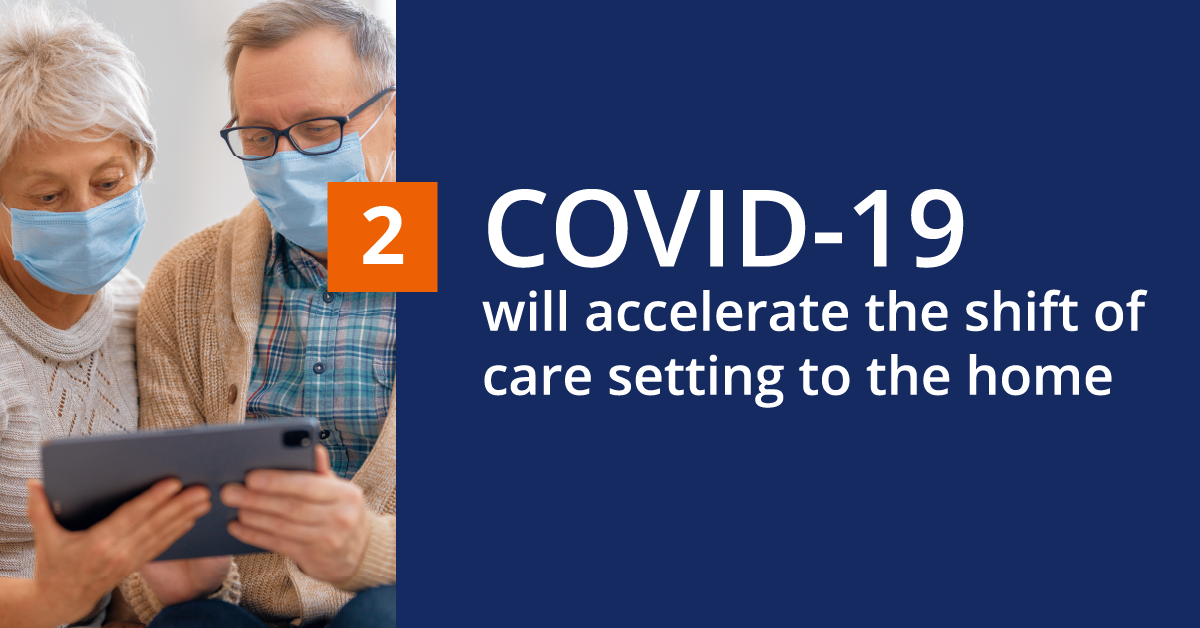 Prediction 2: COVID-19 will accelerate the shift of care setting to the home