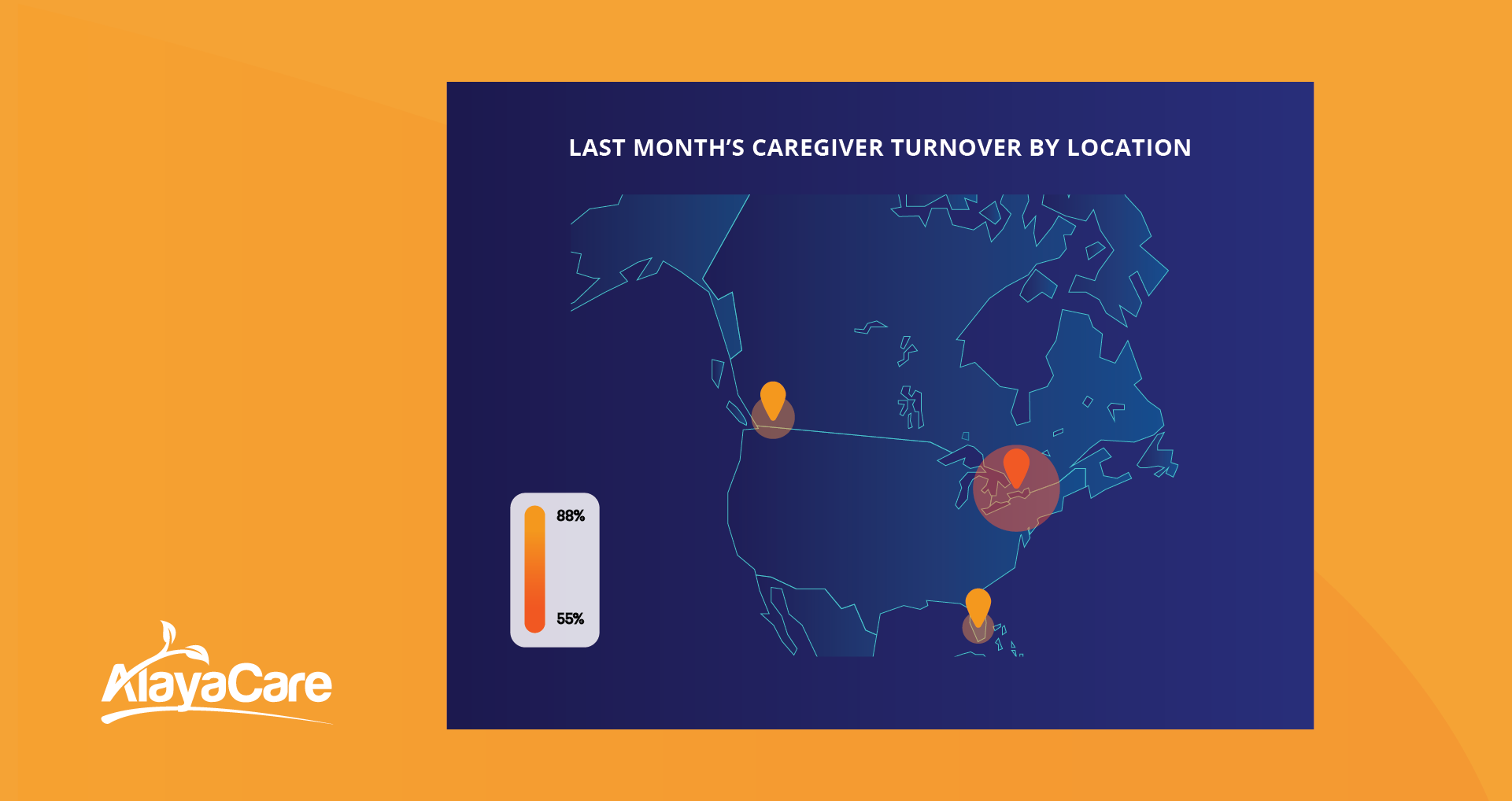 Caregiver turnover by location