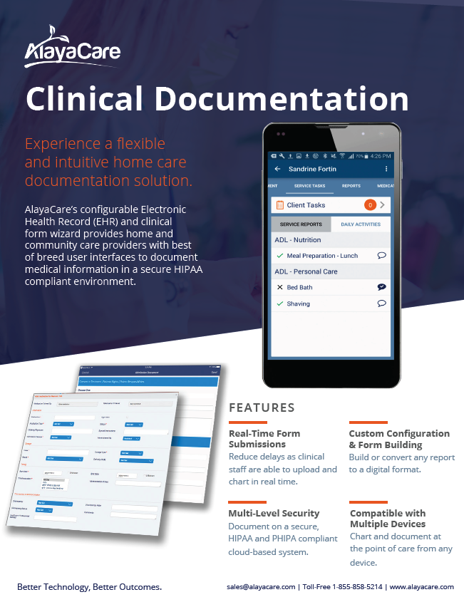 AlayaCare Clinical Documentation