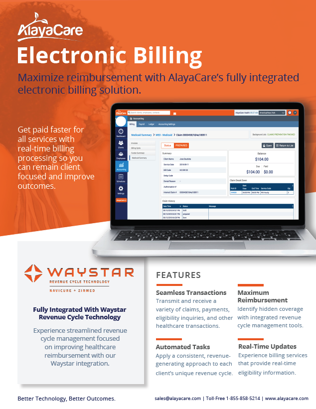 home care electronic billing