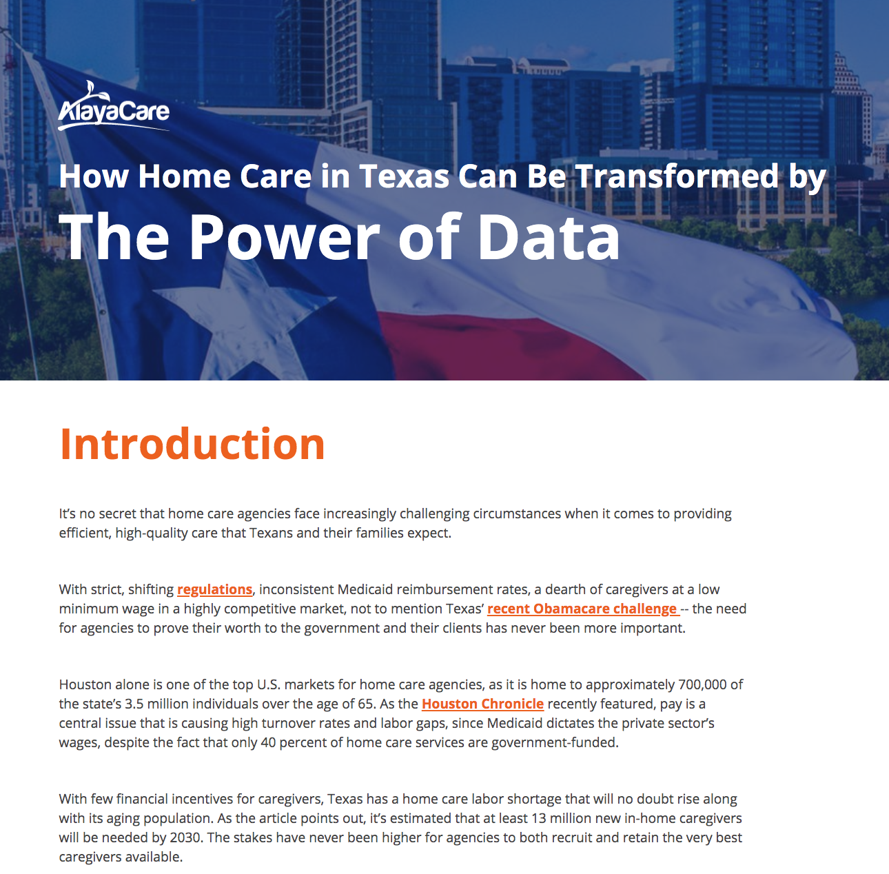 How Home Care in Texas Can Be Transformed