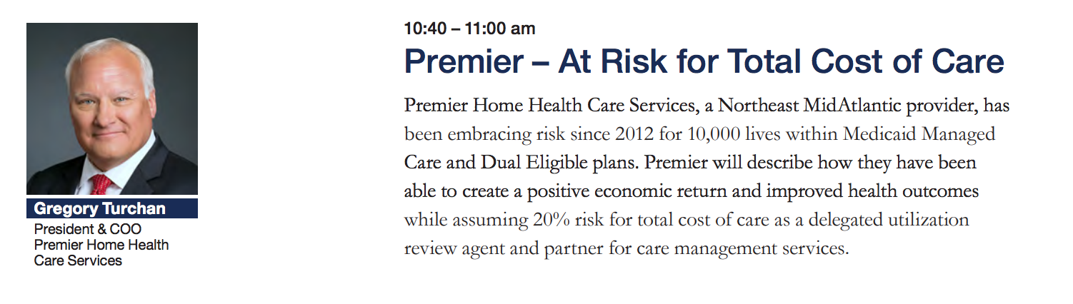 Premier - At risk for total cost of care