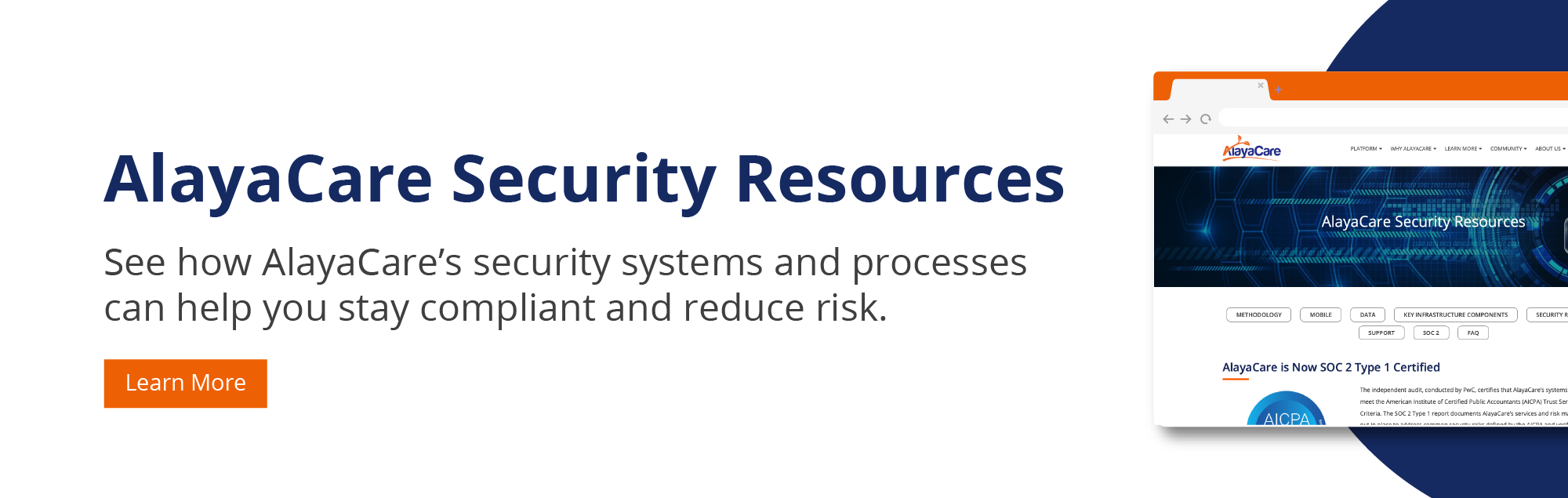 AlayaCare Security Resources CTA