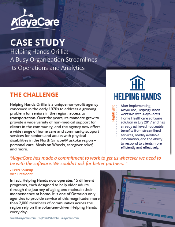 Helping Hands Case Study