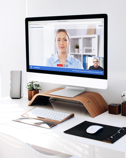 AlayaCare Video Conferencing Mockup