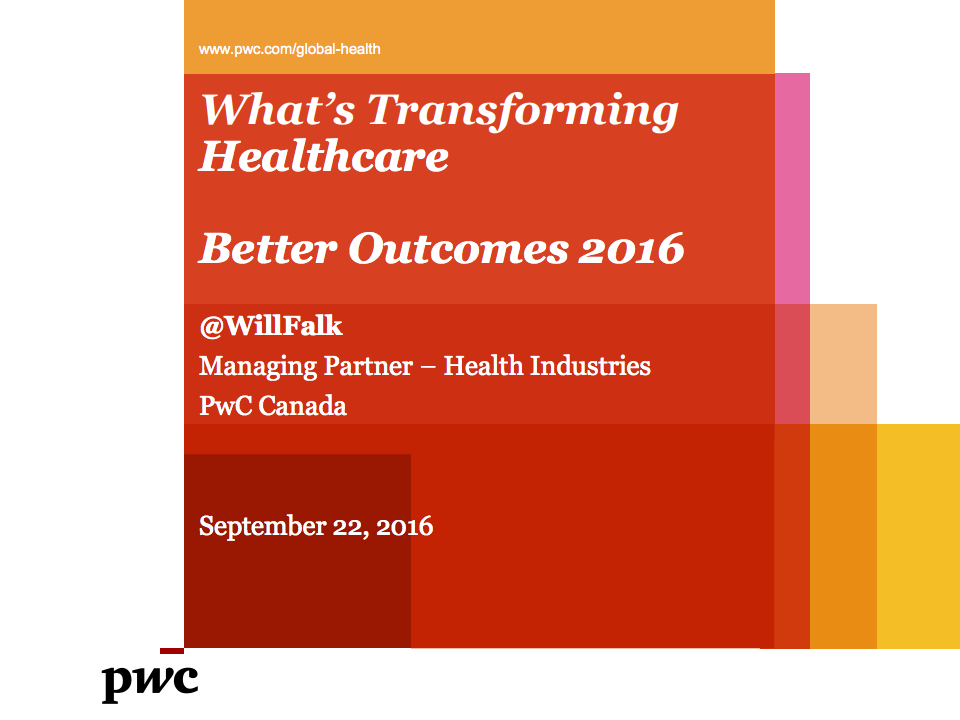 What's Transforming Healthcare