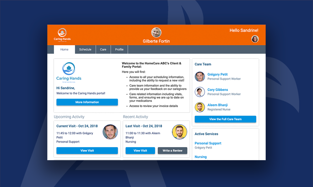 AlayaCare's new Family Portal further modernizes the delivery of home care