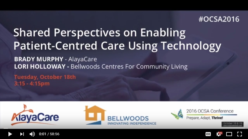 Shared Perspectives on Enabling Patient Centred Care Using Technology
