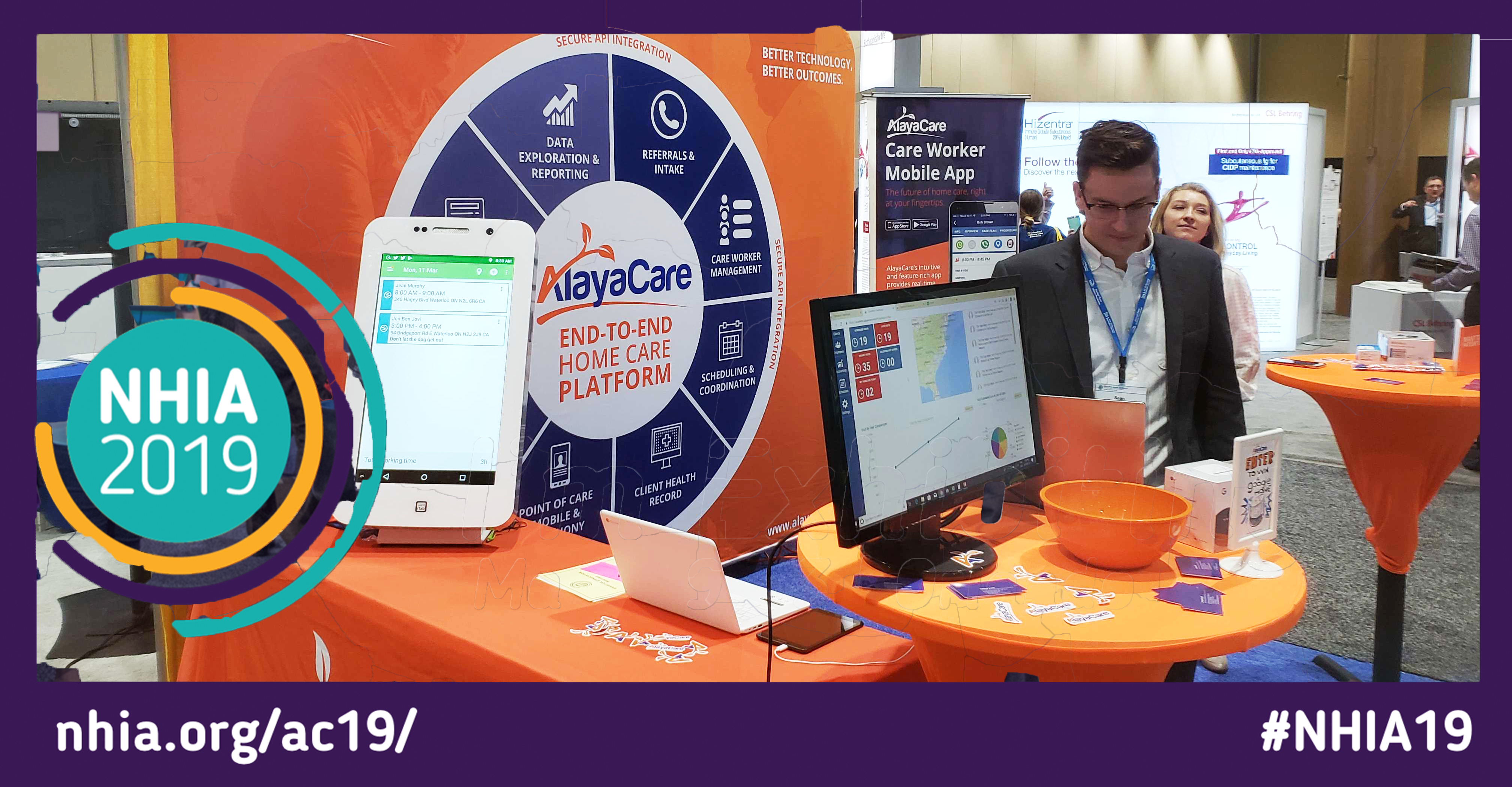 AlayaCare Home Infusion SoftwareHard to Miss at 2019 NHIA Conference