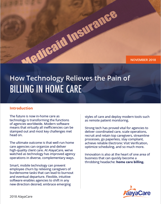 How technology relieves the pain of billing in home care