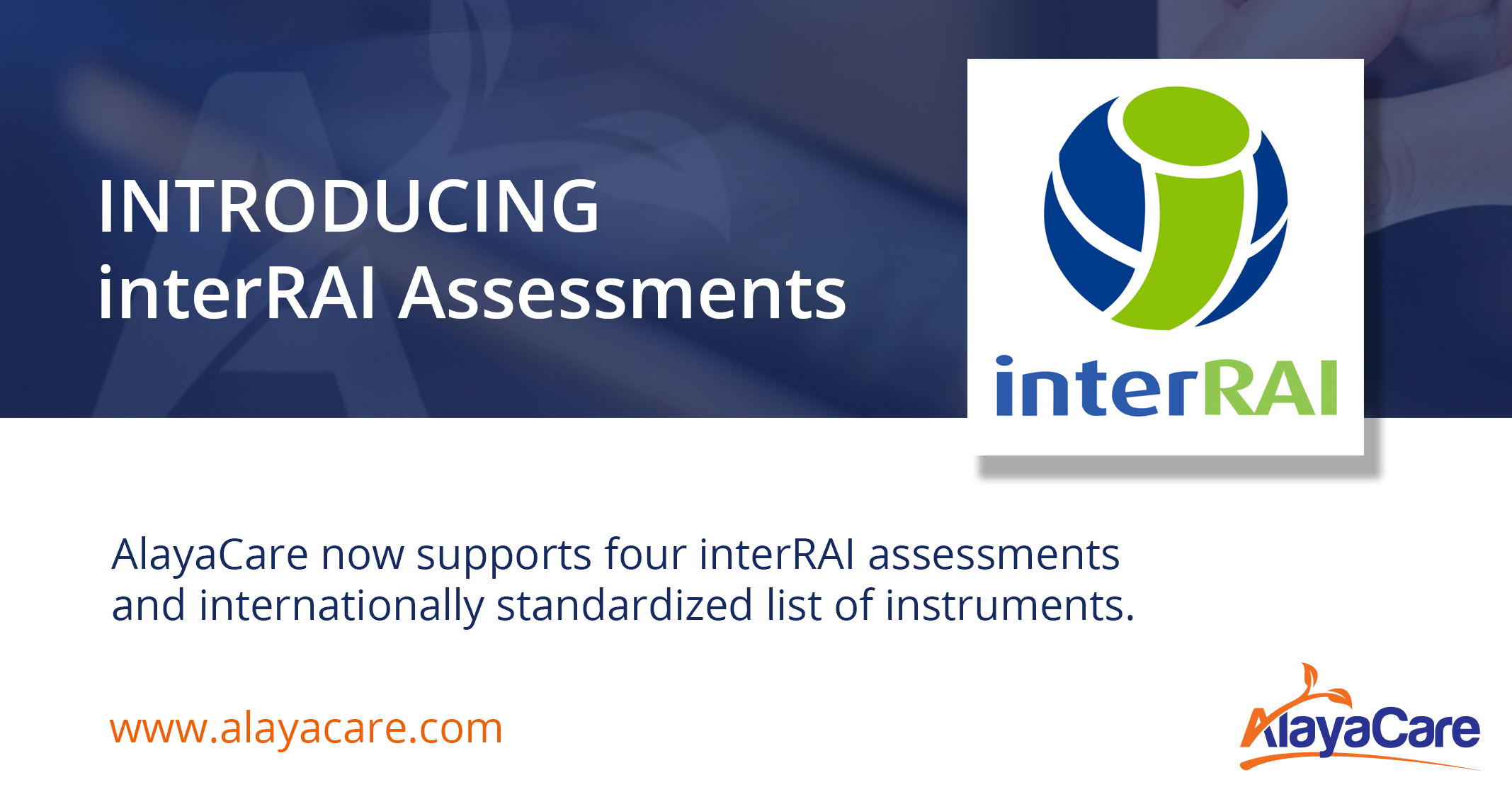 AlayaCare Launches interRAI Assessments