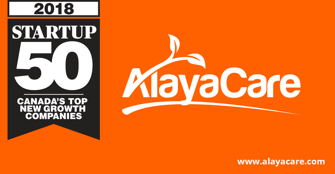 AlayaCare Ranks No. 18 on the 2018 Startup 50